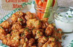 These Spicy Cauliflower Bites sound yummy |#partyfood #sidedish #gameday #glutenfree #vegetarian