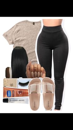 Designer Clothes, Shoes & Bags for Women Swag Outfits For Girls, Cute Lazy Outfits, Cute Outfits For School, Chill Outfits, Cute Casual Outfits, Teen Fashion Outfits, Teenager Outfits, Club Outfits, Dope Outfits