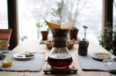 Thought of these for years, the Chemex Coffee Maker - then decided against it. Stylish, but a fair amount of labor.