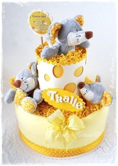Cadeau naissance gâteau de couches Cheese cake