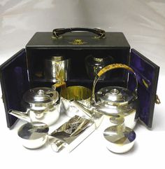 Victorian Silver Plated Travelling Picnic Set