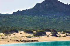 The beach at the Domaine de Murtoli, Corsica.