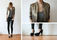 Zara sequin jacket