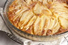 Fresh Pear Custard Pie