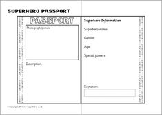 1000 images about superhero reading program on pinterest for Make your own passport template