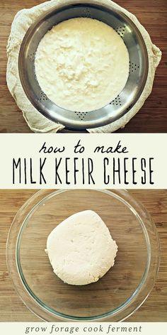 How to Make Milk Kefir Cheese benefits recipes recipes how to make smoothie smoothie recipes Kefir Recipes, Milk Recipes, Cheese Recipes, Real Food Recipes, Sourdough Recipes, Yogurt Recipes, Yummy Recipes, Dinner Recipes, Recipes
