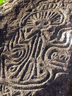 Petroglyph on the slopes of Maderas volcano, Ometepe, Nicaragua…