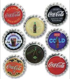 Coca-Cola Bottle Cap Stickers-Vintage