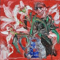 Lilies on Red - Shani Rhys James