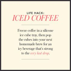 We love a good #LifeHack... here is one for the coffee lovers! #icedcoffee