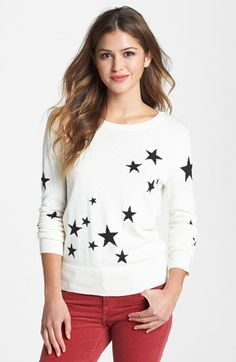 Halogen® Intarsia Knit Sweater (Regular & Petite) | Nordstrom