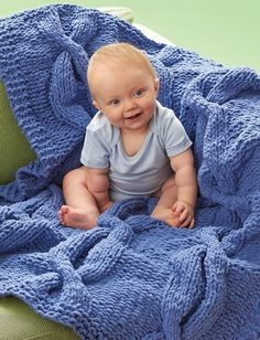 Welcome baby home and learn how to knit a blanket designed with your little bundle of joy in mind. The Coziest Cables Blankie is the knit blanket pattern that will produce a cuddly knit to keep your little one nice and warm for years to come.