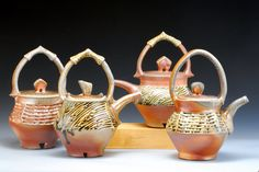 Wood fired teapots ~ By Joy Tanner Pottery and Inspirations.