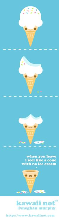 Ice Cream Cone (Kawaii Not Comic)