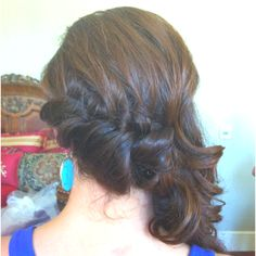 Curled, fishtale braid on the side, and bring the rest to the side and pin as desired