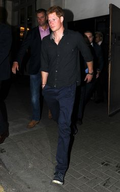 Prince Harry on Saturday Night leaving a London Club owned by Guy Pelly after partying with William viaSplashNews - Sat June 1, 2013