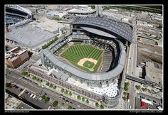 aerial: safeco field; 1999- : seattle mariners