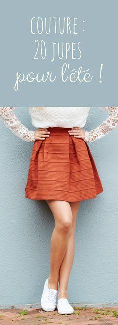 20 modèles de jupes à coudre pour l'été !