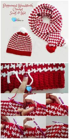 I am going to presenting 25 interesting and cute free #crochet patterns to try this !Houndstooth #Crochet #Hat Free Pattern