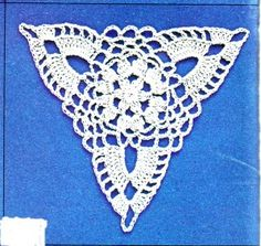 crochet triangular motif diagrams | Motif patchwork au crochet : triangle