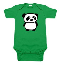 Panda Kelly Green One Piece by My Baby Rocks - gender neutral baby clothes