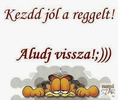 Tuti jó ötlet Garfield and morning Really Funny, Smiley, Cool Things To Make, Quotations, Haha, Poems, Funny Pictures, Thoughts, Motivation