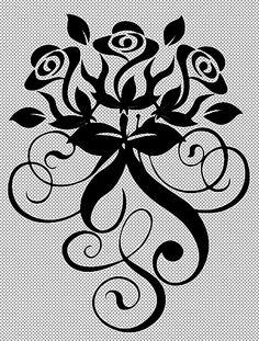 Arabesque de roses.