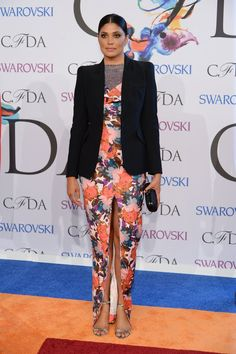 Pin for Later: Rihanna Steals the Whole Show at the CFDA Awards  Rachel Roy arrived in a printed dress.