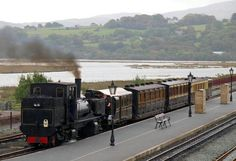 K1 departing Porthmadog with FR heritage carriages