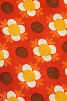 Retro gordijnstof, originele vintage www.sugarsugar.nl