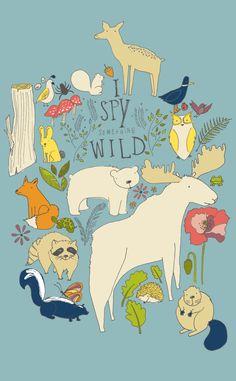 I spy something wild | Monkey and the Whale. #illustration
