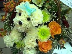 Como hacer un arreglo floral de perrito! - YouTube