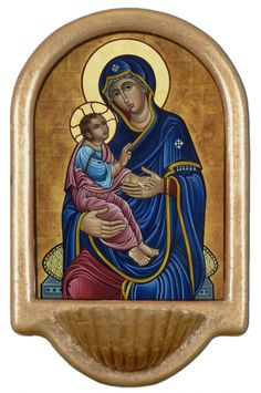 Our Lady of Good Health Holy Water Font Click picture to see on #catholictothemax