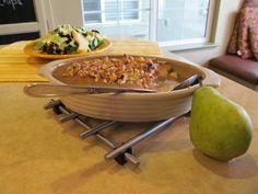 Chai spiced baked pears