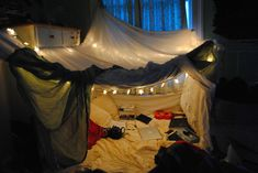 living room tent! yes, I still do this as an adult. complete with movie marathon of childhood favorites