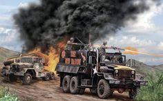 Vietnam Gun Trucks in action, Vietnam War