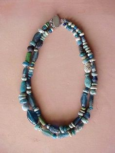 by Nomads Journey | Necklace; Ancient Roman Glass Beads from Djenne, Mali, Africa | 395$