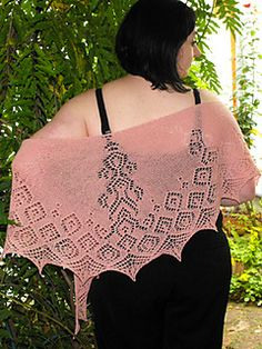 $5.90 Skill level 2-3 (of 5)  Anna is a semicircular shawl with a curved neckline. It is knitted from the middle of the neckline downward. Symmetrically arranged ornaments melt into a border of geometrical motifs and end in a pointy lace edging.  The pattern is fully charted!