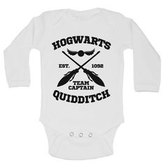 "Cute Kids Onesie  "" Harry Potter Hogwarts "" - Baby Movie Collection Onesies - Funny Kids Shirts - Baby Bodysuit - Short Sleeve Option - 260"