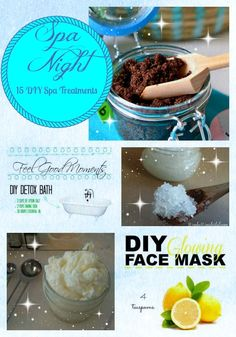 Natural DIY Face Masks : Have your own Spa Night at home with treatments you make yourself!!