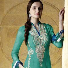 Chic Greenish Blue Salwar Kameez
