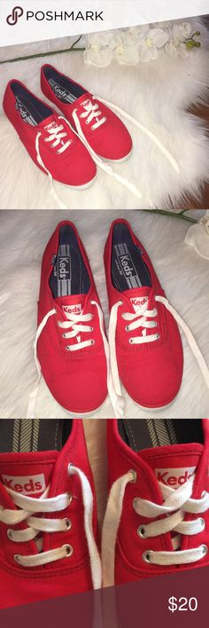 Red Keds Red Keds with White Laces. Champion Originals. Size 7.5. Worn once and in great condition. Keds Shoes Sneakers