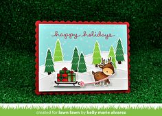 the Lawn Fawn blog: Lawn Fawn Intro: Winter Scripty Sayings and Scalloped Rectangle Stackables