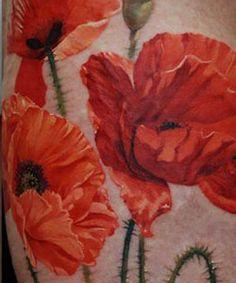 poppy and sunflower tattoo | Flower Tattoos | The Best Flower Tattoos
