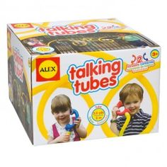 Talking Tubes - Kids Communication Toy - Educational Toys Planet. Great gift for 3 years old child. Make some long distance calls to your friend, parent or sibling indoors and outdoors with this toy talking tube. Develops Skills - pretend play, communication skills. #toys #learning #educational #gifts #child https://www.educationaltoysplanet.com/talking-tubes-kids-communication-toy.html