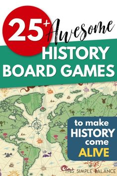 History Board Games to Make History Come Alive - - Over 25 history board games to choose from for your homeschool or classroom, or as the perfect gift for the history lover in your life! American History Lessons, World History Lessons, History Quotes, History Education, History Teachers, Teaching History, History Facts, Art History, British History