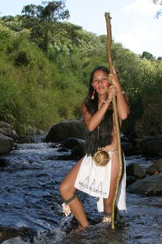 Taino woman.  Indians native to the caribbean, mostly in PUERTO RICO and the DOMINICAN REPUBLIC.