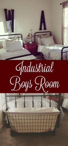 My Rustic Homestead: Farmhouse I Industrial I DIY I Modern I Ikea I Hobby Lobby I Boys Room I Shared Room