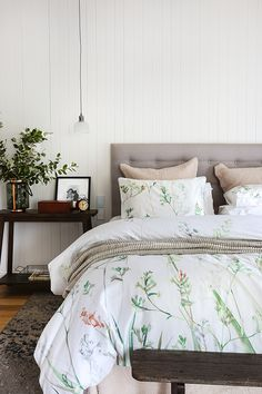 Inspired by iconic Australian florals, refresh your home this season with this spring makeover by Shop the look. Decor, Cotton House, Home Textile, Interior, Dream Room, Interior Inspiration, Home Decor, Bedroom Inspirations, Home Styles