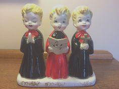 Vtg trio of choir boys Christmas figurine Wales Japan EXC | eBay